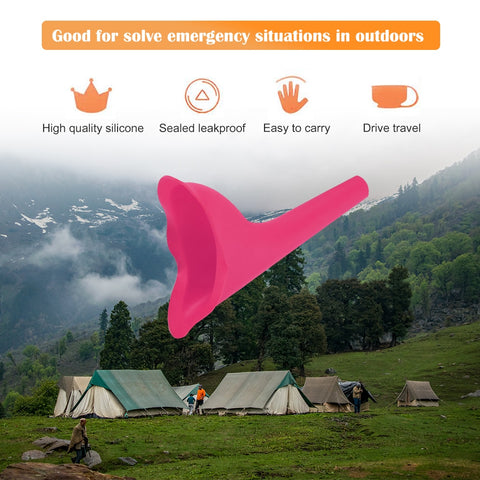 High Quality Portable Women Camping Urine Device Funnel Urinal Female Travel Urination Toilet Women Stand Up & Pee Soft