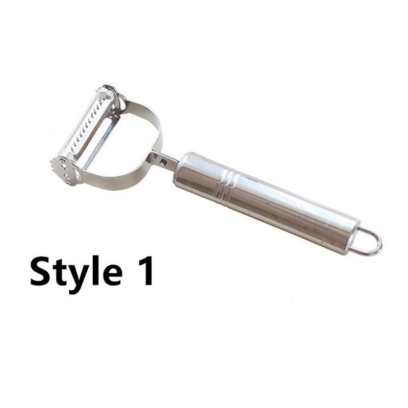 High Quality Stainless Steel Potato Cucumber Carrot Grater Julienne Peeler Vegetables Fruit Peeler Double Planing Grater Tools