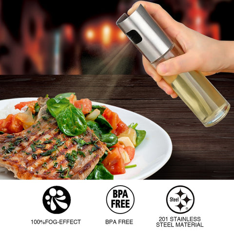 Kitchen Baking Oil Cook Oil Spray Empty Bottle Vinegar Bottle Oil Dispenser Cooking Tool Salad BBQ Cooking Glass  Oil sprayer