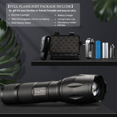 LED Flashlight Ultra Bright Torch T6/L2//V6 5 Lighting Modes lanterna Zoom Powerful Bicycle Light Camping Light by 18650 Battery