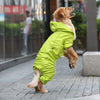 Image of Medium and large dog waterproof big dog raincoat pet Golden Retriever four-foot raincoat