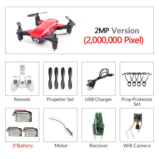 Mini Drones With Camera HD RC Helicopter With WiFi Headless Mode RC Quadcopter With Camera High Hold Mode Toys For Children #E