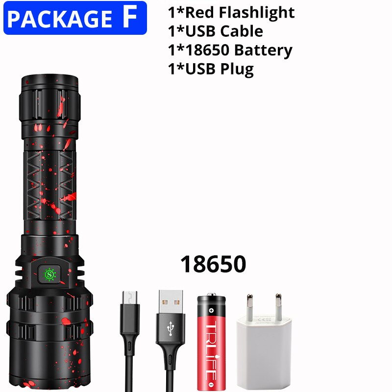 Most Powerful Xlamp XHP50.2 LED Flashlight Hunting L2 Waterproof 5 switch Modes Torch Light Lanterna use 18650 26650 Battery