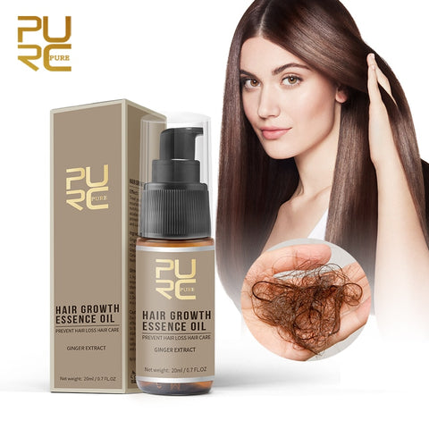 PURC Hot sale Fast Hair Growth Essence Oil Hair Loss Treatment Help for hair Growth Hair Care 20ml