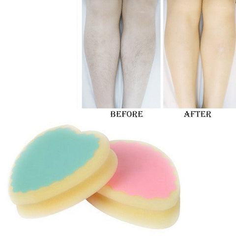 Popular Magic Painless Hair Removal Depilation Sponge Pad Remove Hair Remover Color Random