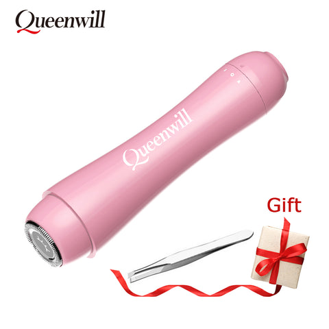 Portable Electric Epilator Female mini Electric Epilator Electric Face Shaver Eyebrow Tweezer Painless Portable Hair Removal