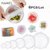Image of RANO Universal Silicone Bowl Pot Lid Silicone Cover Pan Cooking Food Use Fresh Cover Microwave Cover Silicone Stretch Lids