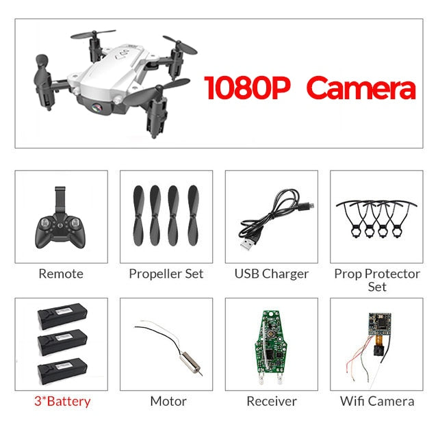 RC WiFi FPV Drones 4K Wide-angle Camera RC Helicopter 1080P HD Camera Quadcopter Aircraft Quadrocopter Aerial Video VS M69G E58
