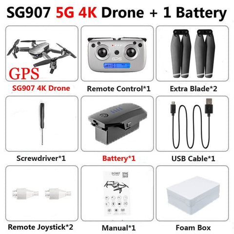 SG901 Drone 4K HD Dual Camera Drone GPS RC Helicopter Drone Profissional Follow Me Stable Height Quadcopter VS LF609 E58 SG907
