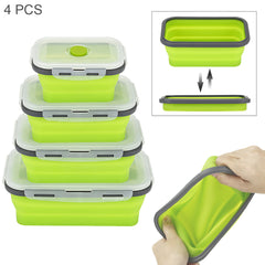 Silicone Folding Bento Lunch Box Collapsible Portable Lunchbox Dinnerware Meal Food Container For Kitchen CF-101