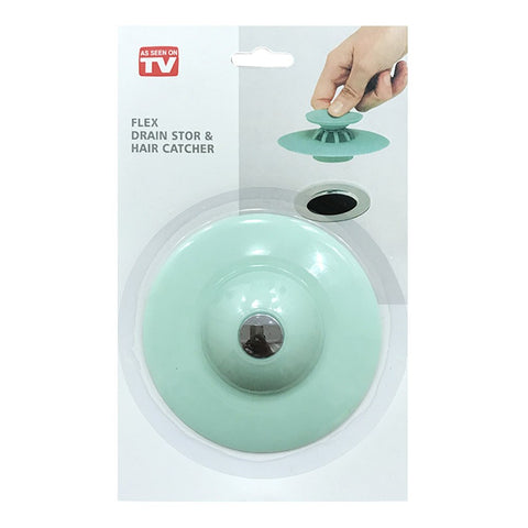 Sink Waste Plug Strainer Sink Filter Solid Hair DrainClean Catch Kitchen Silicone Cleaning