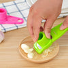 Image of Stainless Steel Garlic Presses Manual Garlic Mincer Chopping Garlic Tools Curve Fruit Vegetable Tools Kitchen Gadgets
