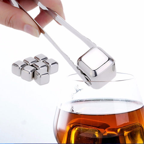 Stainless Steel Whiskey Cooler Wine Cooling Stones Ice Cubes Chillers Drink Physical Cooling Tool Wine beer Cooler CF-141