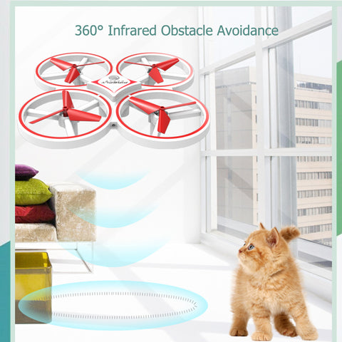 UAV Aircraft Toy UFO Flying Drone With Watch Wristband Control RC Quadrocopter With Hand Control Infrared Obstacle Avoidance #E