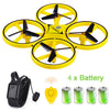 Image of UAV Aircraft Toy UFO Flying Drone With Watch Wristband Control RC Quadrocopter With Hand Control Infrared Obstacle Avoidance #E