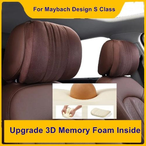 Upgrade Design for S Class Car Neck Pillows Supre Soft Memory Foam Neck Headrest