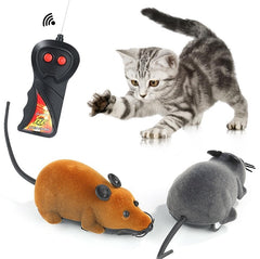 Wireless Remote Control Brown Rat Mouse Toy For Cat Kitten Dog Pet Novelty Gift Cat Supplies