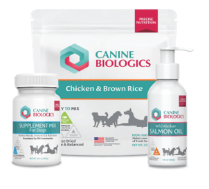 Canine Biologics Nutrition System food salmon oil and supplements