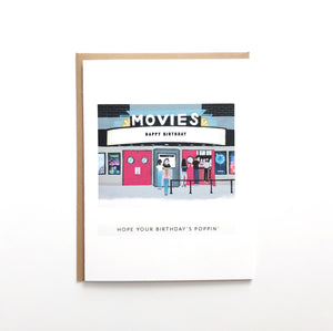 """Poppin' Birthday"" Movie Theater Card"