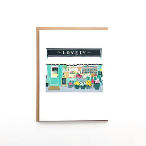 """Lovely"" Flower Shop Card"