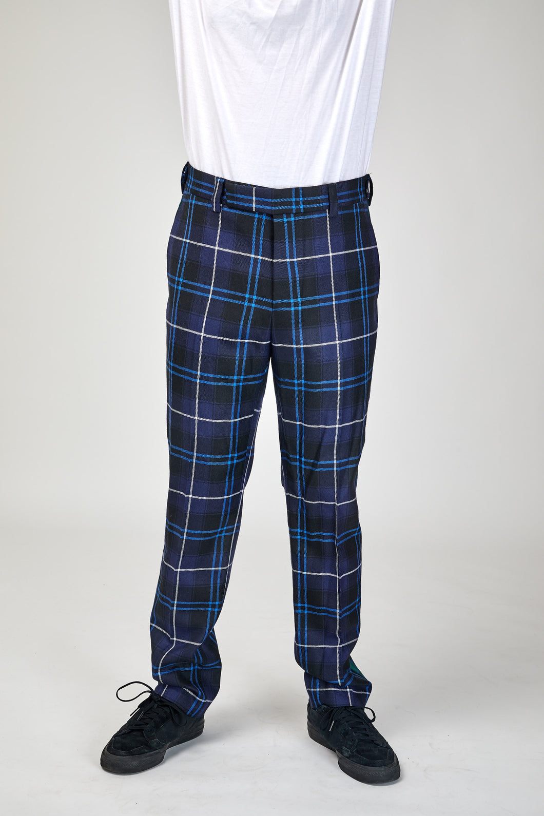 Versace Checked Wool Trousers