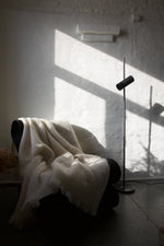 Load image into Gallery viewer, Pihl Strehl, Light weight mohair throw - Creme