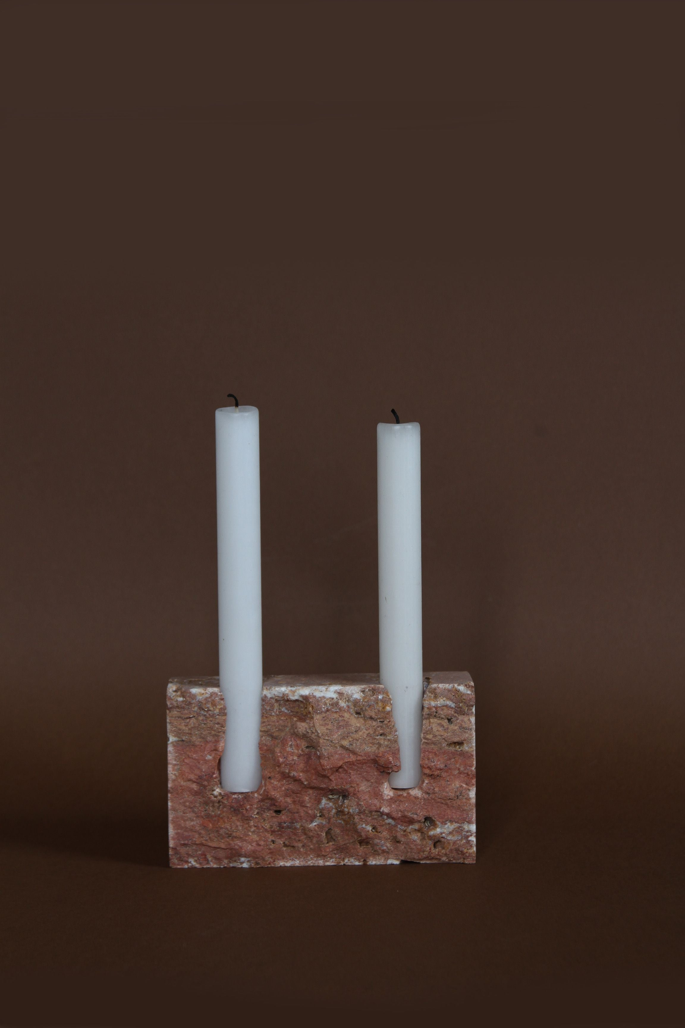 Candlestick Red Travertine