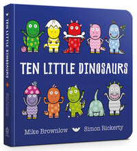 Load image into Gallery viewer, Ten Little Dinosaurs (Board Book)