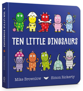 Ten Little Dinosaurs (Board Book)