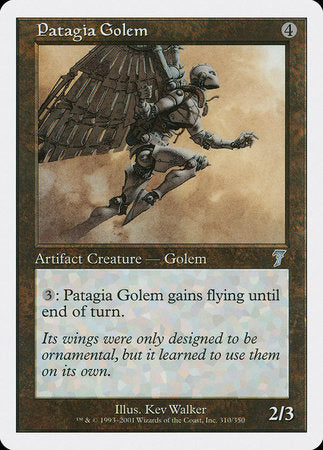 Patagia Golem [Seventh Edition] | Mindsight Gaming