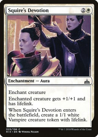 Squire's Devotion [Rivals of Ixalan] | Mindsight Gaming