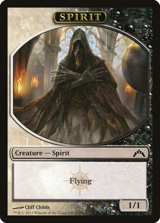 Spirit Token (Black/White) [Gatecrash Tokens] | Mindsight Gaming
