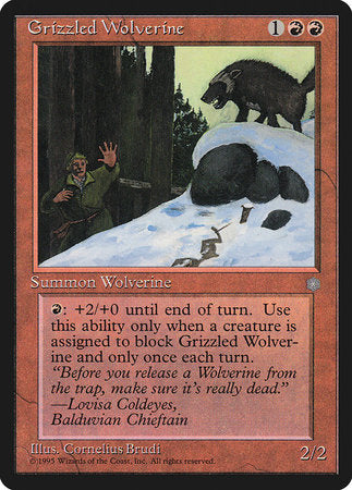 Grizzled Wolverine [Ice Age] | Mindsight Gaming