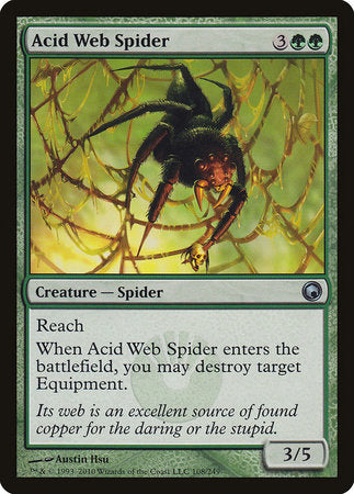 Acid Web Spider [Scars of Mirrodin] | Mindsight Gaming
