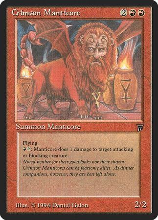 Crimson Manticore [Legends] | Mindsight Gaming