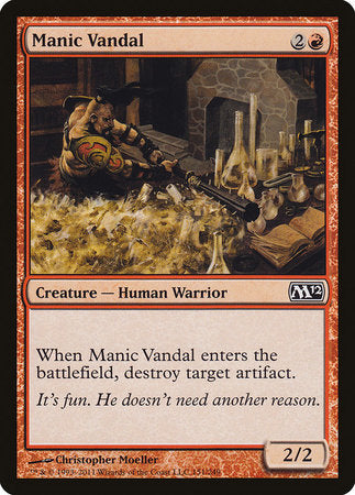 Manic Vandal [Magic 2012] | Mindsight Gaming