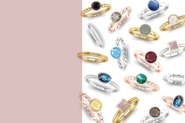 Ethical Stacking Rings, Jeweller's Loupe Hope Collection