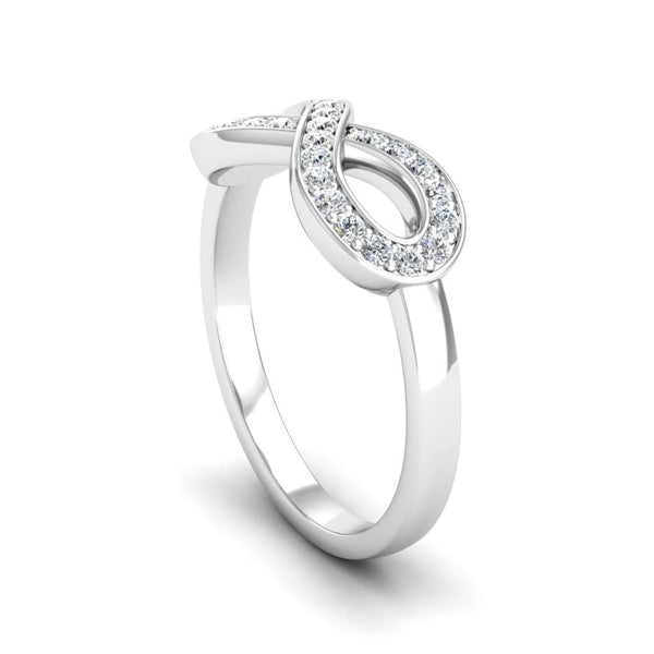 Diamond Set Infinity Symbol Ring - Jeweller's Loupe