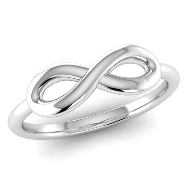 Ethically-sourced Platinum Infinity Symbol Ring - Jeweller's Loupe