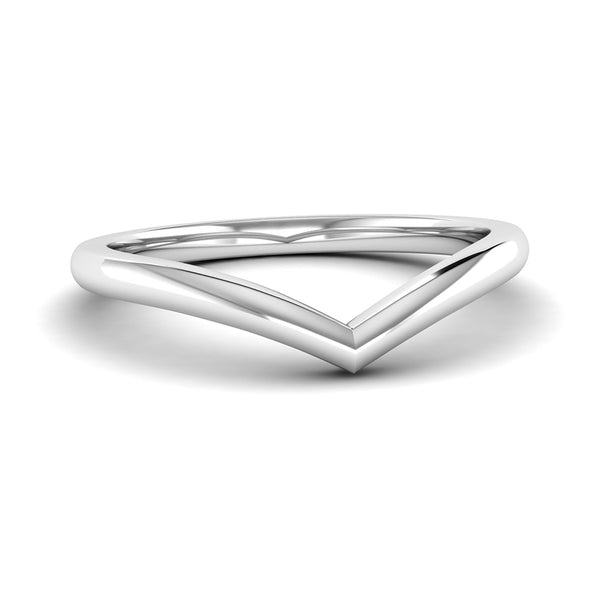 Fairtrade White Gold Wishbone Ring, Jeweller's Loupe