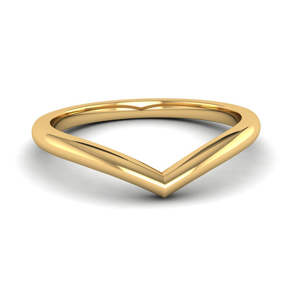 Fairtrade Yellow Gold Wishbone Ring, Jeweller's Loupe