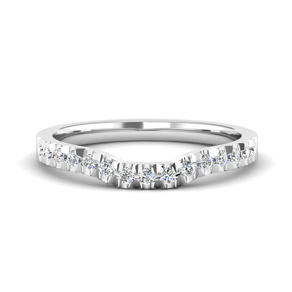 Diamond Set Fitted Wedding Ring to fit a Princess Cut Diamond Engagement Ring - Jeweller's Loupe