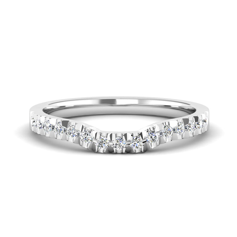 Princess Cut Diamond Engagement Ring and Diamond Fitted Wedding Ring Set - Jeweller's Loupe