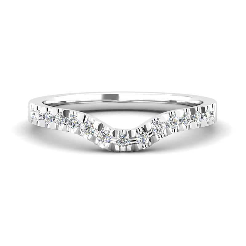 Diamond Set Fitted Wedding Ring to fit an Emerald Cut Diamond Engagement Ring - Jeweller's Loupe