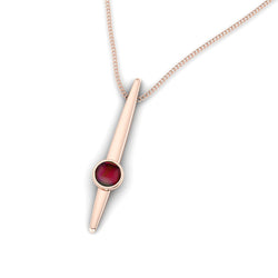 Fairtrade Gold Large HOPE Pendant with Garnet - Jeweller's Loupe