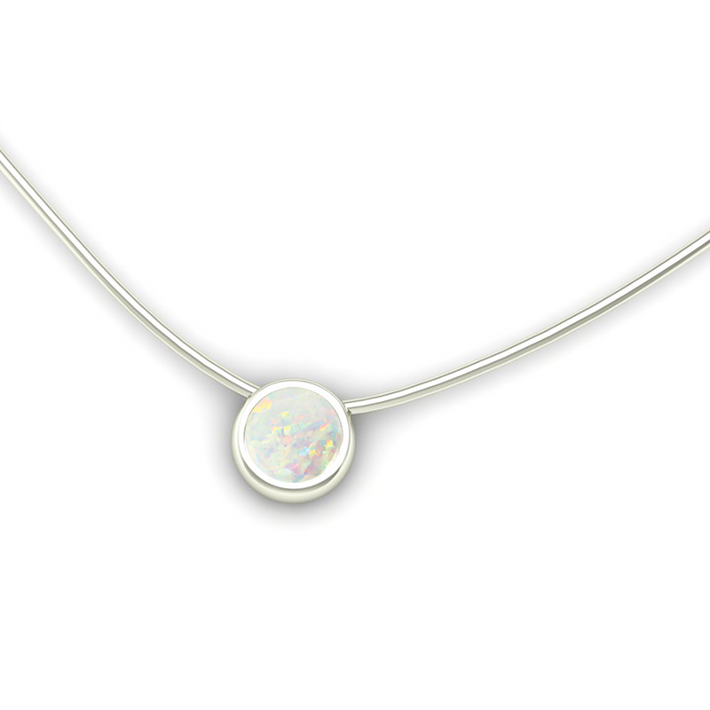 JL LOVE Pendant with Opal - Jeweller's Loupe