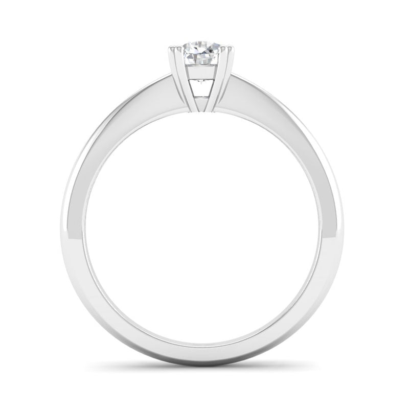 Double Claw Solitaire Diamond Engagement Ring - Jeweller's Loupe