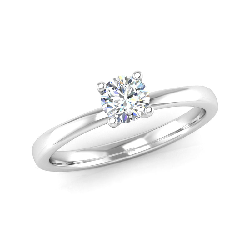 Four Claw Twist Solitaire Diamond Engagement Ring - Jeweller's Loupe