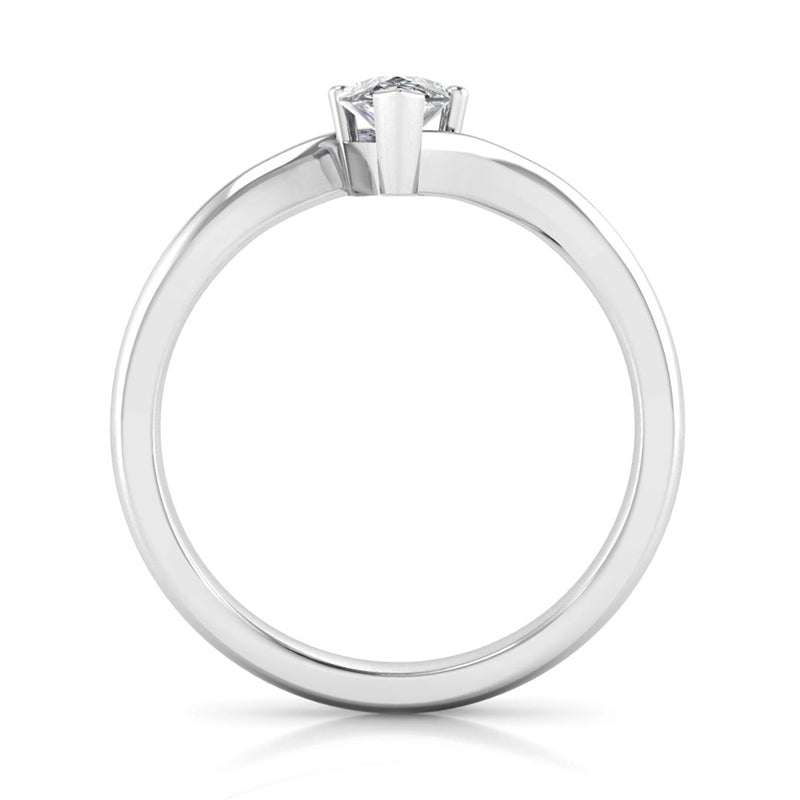 Crossover Solitaire Marquise Cut Diamond Engagement Ring - Jeweller's Loupe