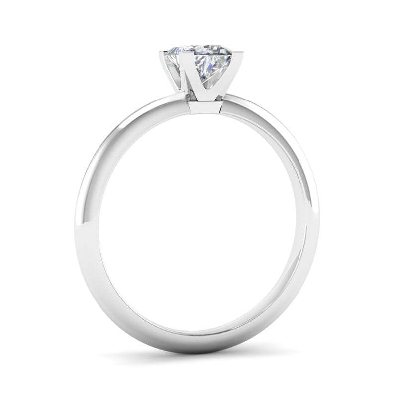 Solitaire Princess Cut Diamond Engagement Ring with a Rex Setting - Jeweller's Loupe